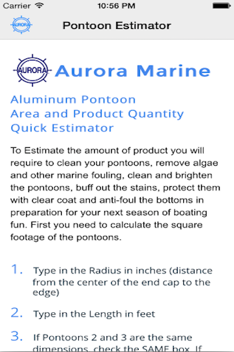 Pontoon Estimator
