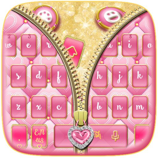 Mincing Pink Zipper Keyboard Theme
