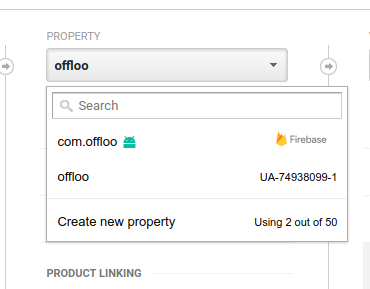Add firebase application in google analytics