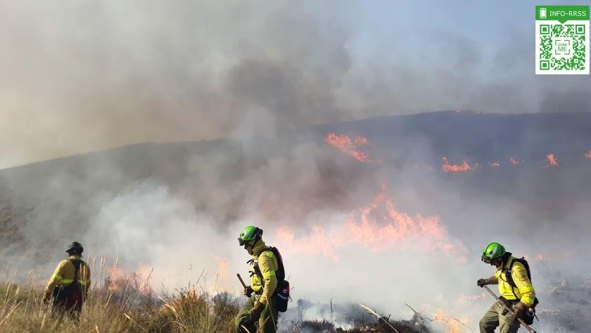Imagen de archivo de un incendio ocurrido en Almería.