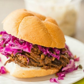 Slow Cooker Honey-Balsamic Pulled Pork with Asian Slaw Recipe