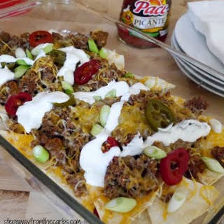 Low Carb Beef Nachos.