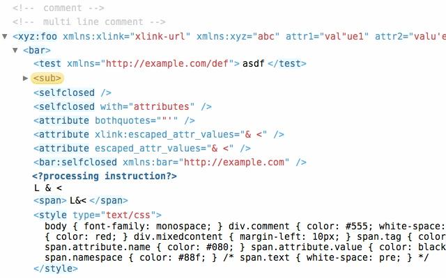 View XML