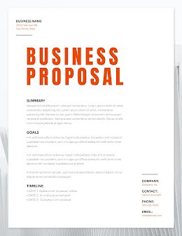 Proposed Business - Business Proposal item