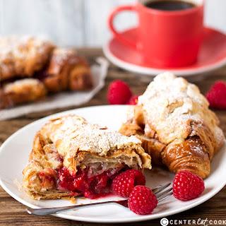 Raspberry Frangipane Stuffed Croissants