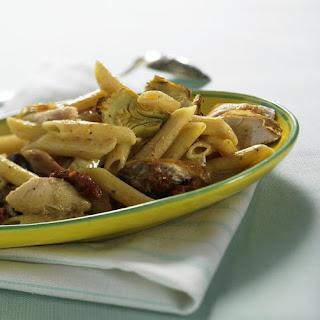 Roast Chicken with Artichoke Penne