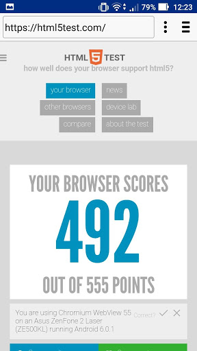 browser score