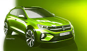 A digital rendering of the upcoming VW Taigo.