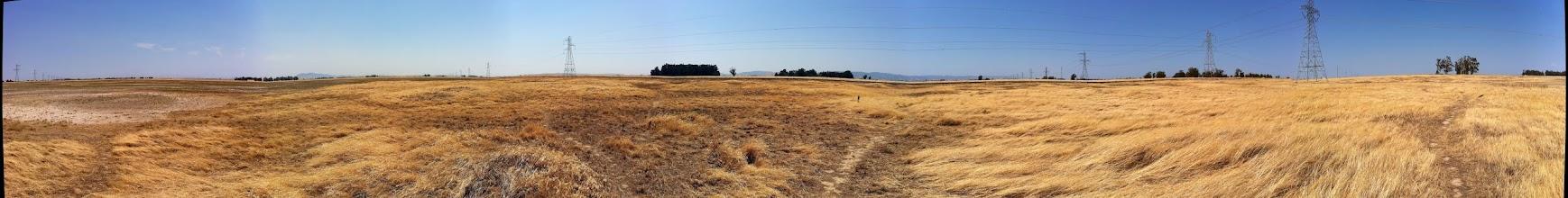 Photo: Panorama of the Jepson Prairie Reserve