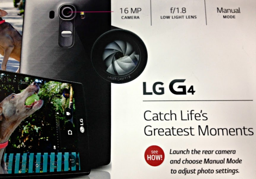 The 16 MP camera on the new LG G4 even has a manual mode!