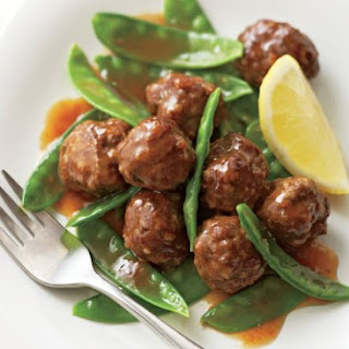 Meatballs With Sweet Lemon Glaze