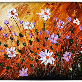 Acrylic painting- Flowers by Pooja Chopra - Painting All Painting ( #acrylic #painting #flowers #acrylicpainting #colours )