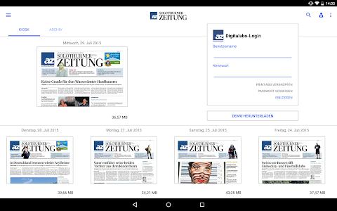 az Solothurner Zeitung E-Paper screenshot 4