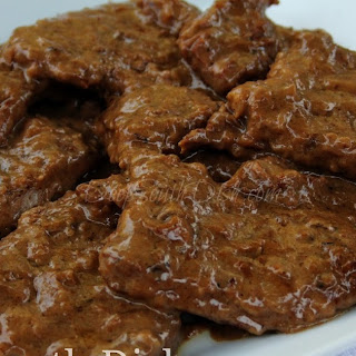 Steak and Gravy with Onion.