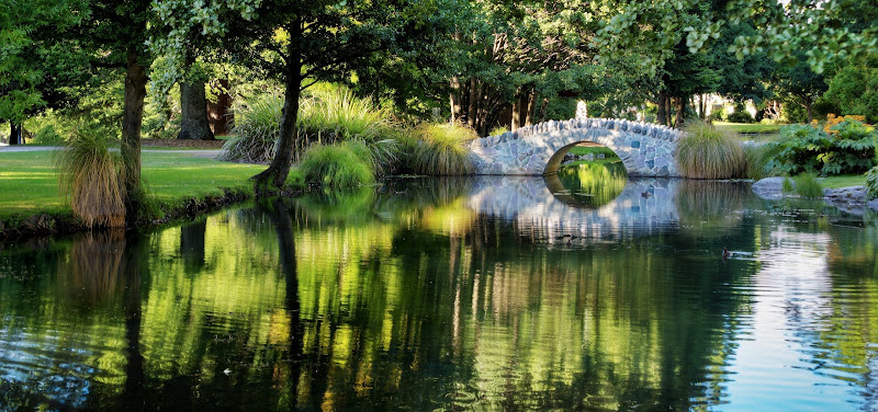 Photo: Queenstown Gardens, Stone Bridge  Here's another photo from last week... a summer day in the gardens...