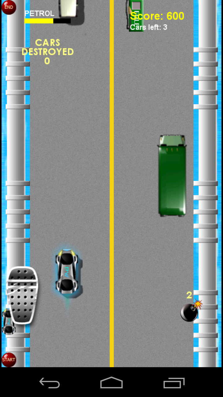 Скриншот Road Fighter Tilt Car Race