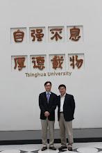Photo: Drs. Kim and Sun at Tsinghua University