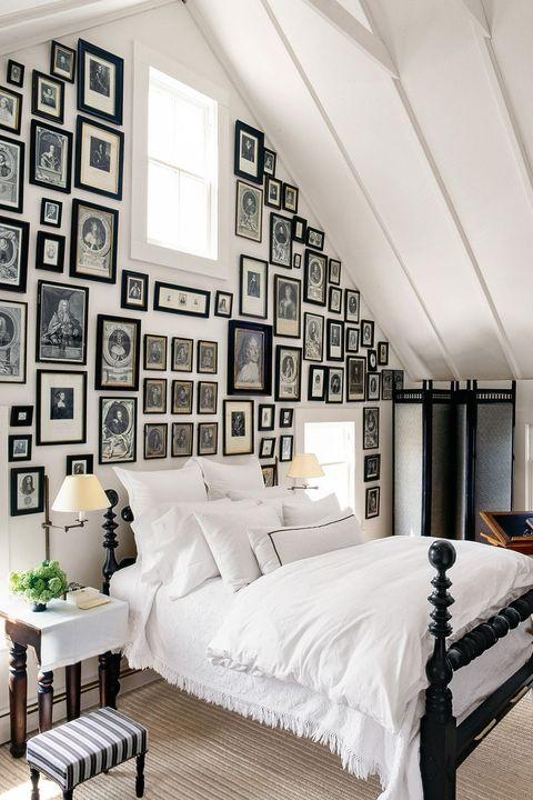 Gallery Wall Art Attic Bedroom Ideas