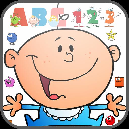 学习ABC 123的形状 教育 LOGO-玩APPs