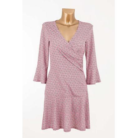 Frill Wrapped Jersey Dress Pink - Pernilla Wahlgren