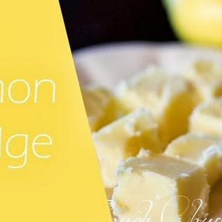 Lemon Fudge Recipes.
