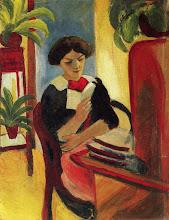 """Photo: August Macke, """"Elizabeth in lettura"""" (1911)"""