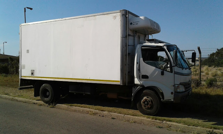 The meat truck which was hijacked in allegedly hijacked in Daku Road, Kwazakhele, on Monday afternoon.