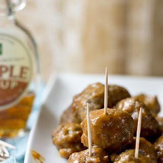 Slow Cooker Maple Meatballs.