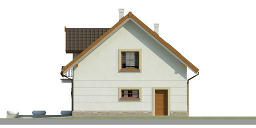 Dom przy Alabastrowej 34 - Elewacja prawa