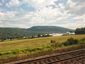 Photo: More random countryside. We live in a very pretty state even if taking pics through the train window dulls it a bit.