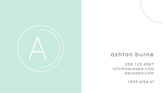 Aqua Spa Wellness - Business Card Template