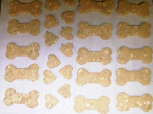 Peanut Butter, Honey and Oat Dog Treats