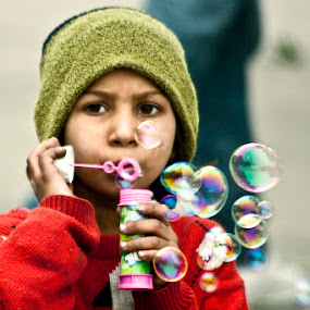 Bubbles by Anurag Bhateja - News & Events World Events ( child, bubbles, kid )