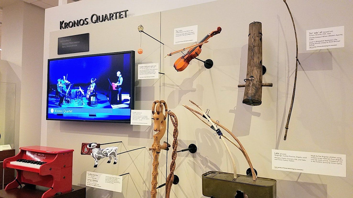 Music Instrument Museum (MIM) exhibit on contemporary music icons included Kronos Quartet