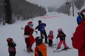 Photo: The Jolly Old Elf, himself was the most popular guy on the mountain.
