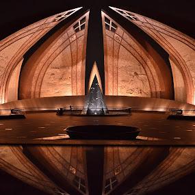 PAKISTAN Monument by Arsalan Sandhila - Buildings & Architecture Statues & Monuments ( pakistan, monuments, islamabad, petals, still life, arches, buildings, monument, architecture, nightscape )