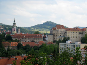Photo: Cesky Krumlov Castle in the distance