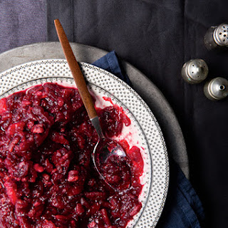 Gingered Cranberry Sauce with Maple Syrup, Pineapple & Pecans