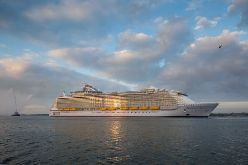 harmony-of-the-seas-sailing.jpg -  Harmony of the Seas at its debut in Southampton, England, in May 2016.