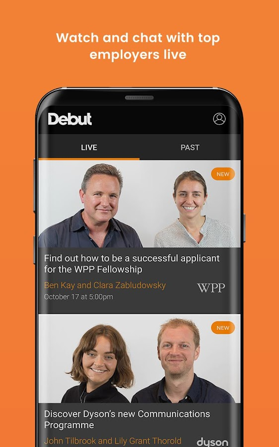 Debut - where careers find you- screenshot