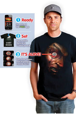 Morphsuit t-shirt, ögat