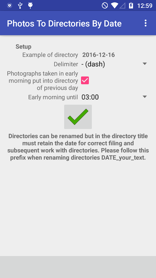 Photos To Directories By Date- screenshot