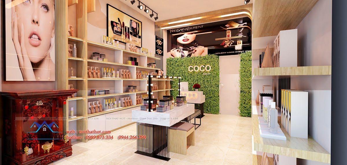 thiết kế shop mỹ phẩm coco 4