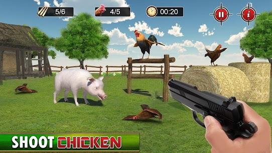 الهيجان الدجاج مطلق النار 3D: ألعاب الرماية بمسدس 5