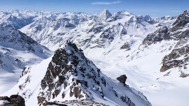 Photo: View from Hintere Jamspitze with Piz Fliana (3281 m) and Piz Linard (3410 m)