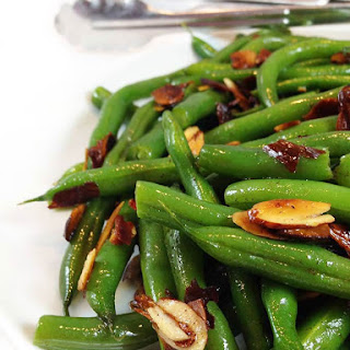 Brown Butter Toasted Almond Green Beans.