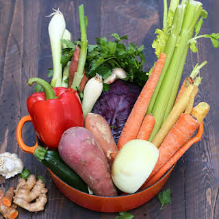 Homemade Vegetable Broth.