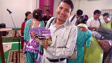Photo: Pastor Pradeep came all the way from western Nepal. Two days bus ride. He was simply delighted and overwhelmed with joy for the teaching andChristian literature.