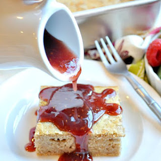 Peanut Butter and Jelly Baked Pancakes