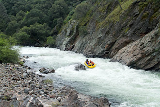 Photo: White water rafting through  Clavey Falls Rapid (class 5) on the Tuolumne River, near Yosemite National park, CA.